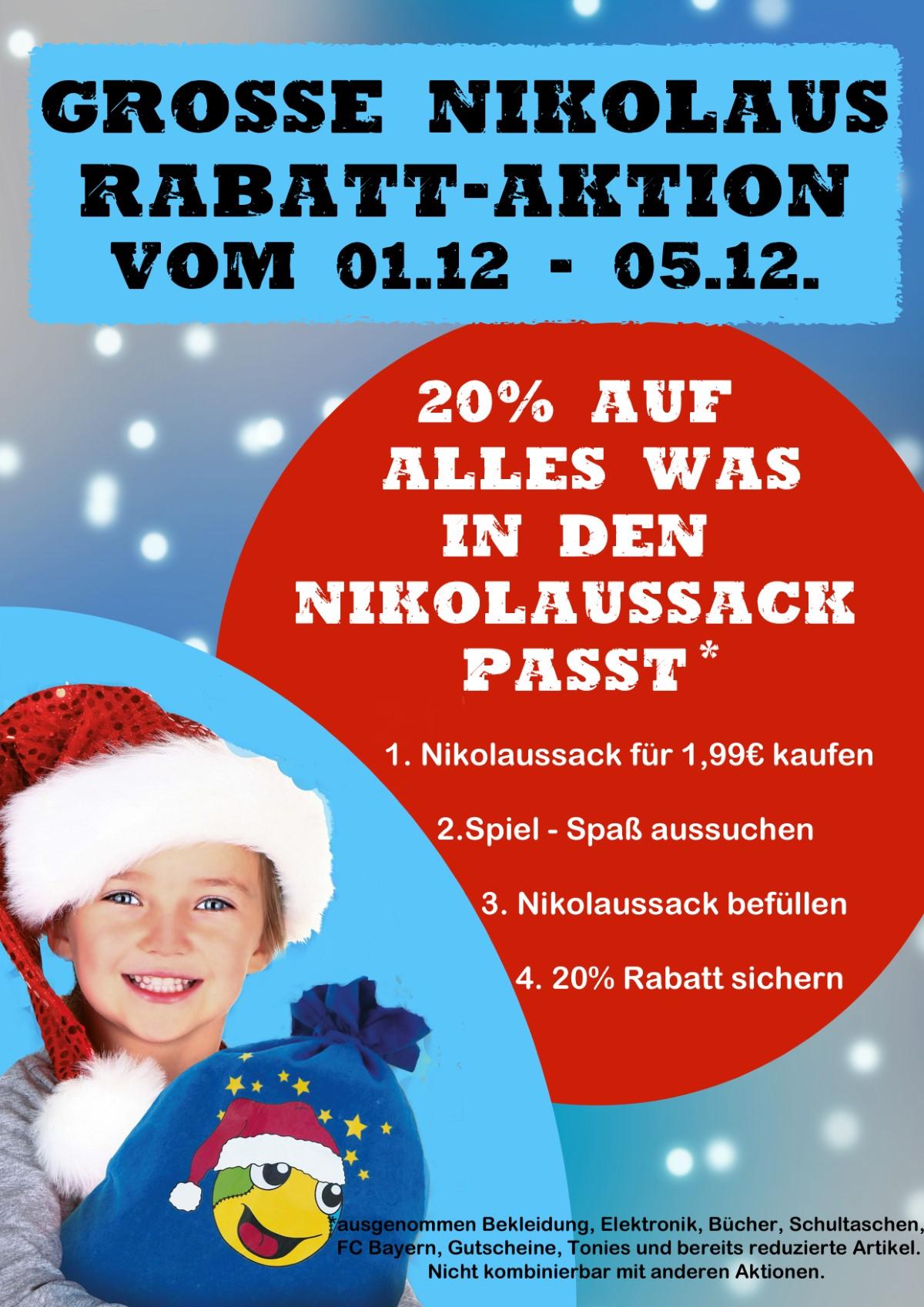 20% Auf Alles Was In Den Nikolaussack Passt.