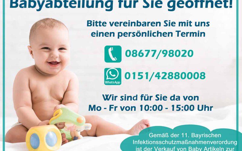Babyabteilung Geöffnet