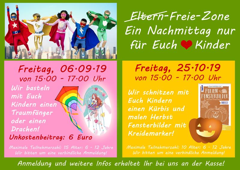 Eltern-Freie-Zone – Ein Nachmittag Nur Für Euch Kinder! September & Oktober