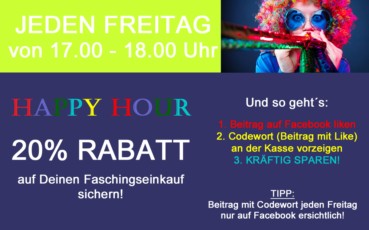 Fasching Happy Hour